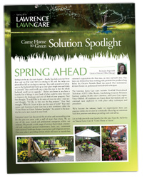 Lawrence Lawn Care - Newsletter - Spring